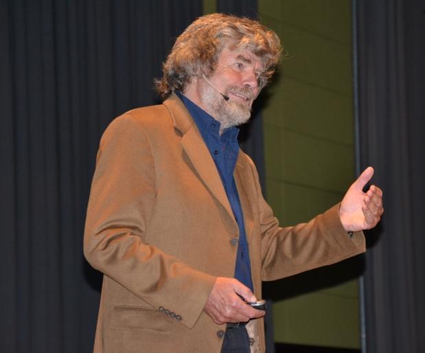 Reinhold Messner Bei Seinem Vortrag In Gemünden