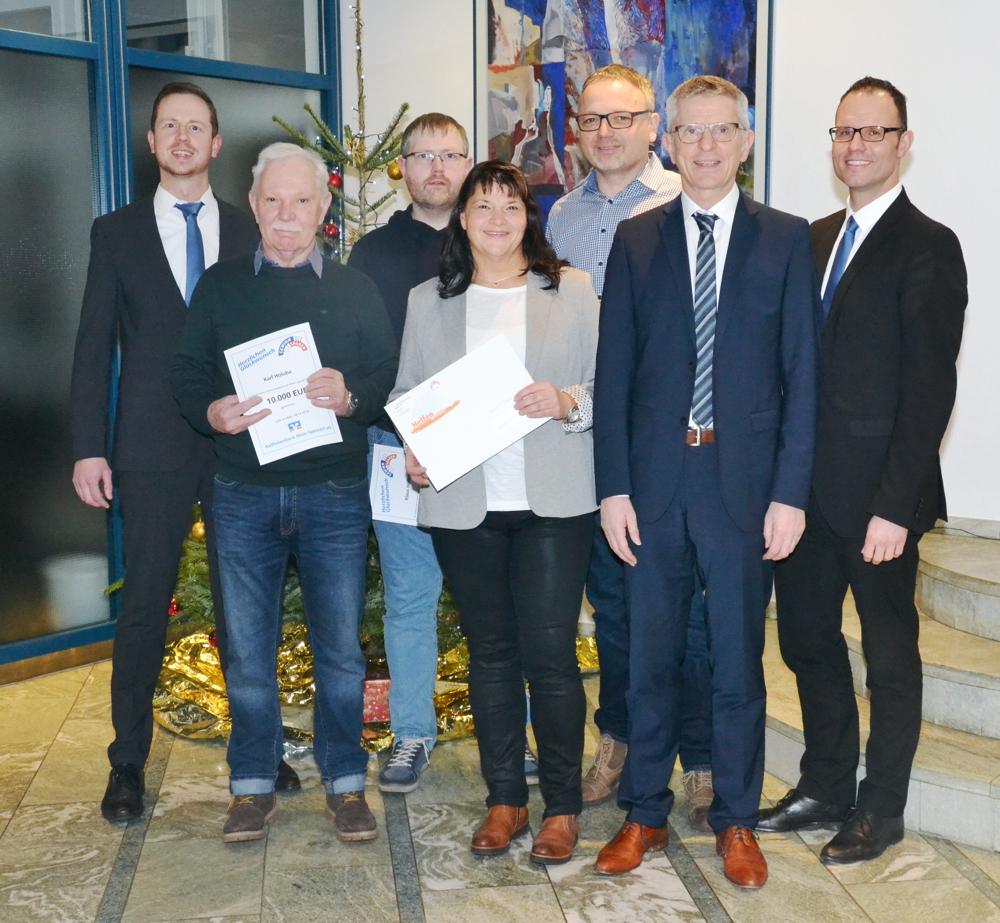 Von Links: Christian Schwarzmayer, Karl Holuba, Klaus Höfling, Ulrike Hopf, Michael Hopf, Dieter Hechelmann, Nikolaus Lauer
